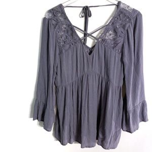 A. Eagle Blue Lacey Blouse